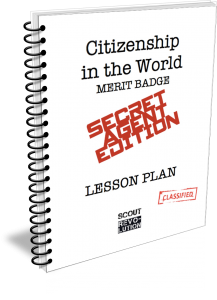 Citizenship in the World merit badge Secret Agent Edition